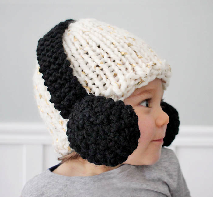 Baby headphones hat pattern