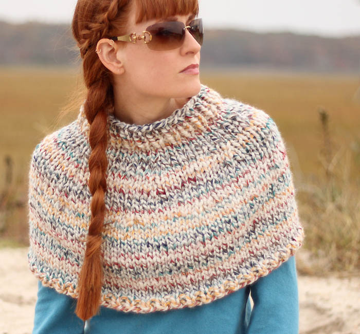 Fog chaser cape knitting pattern