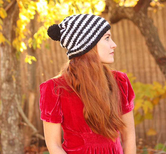 Kate spade inspired knit hat pattern