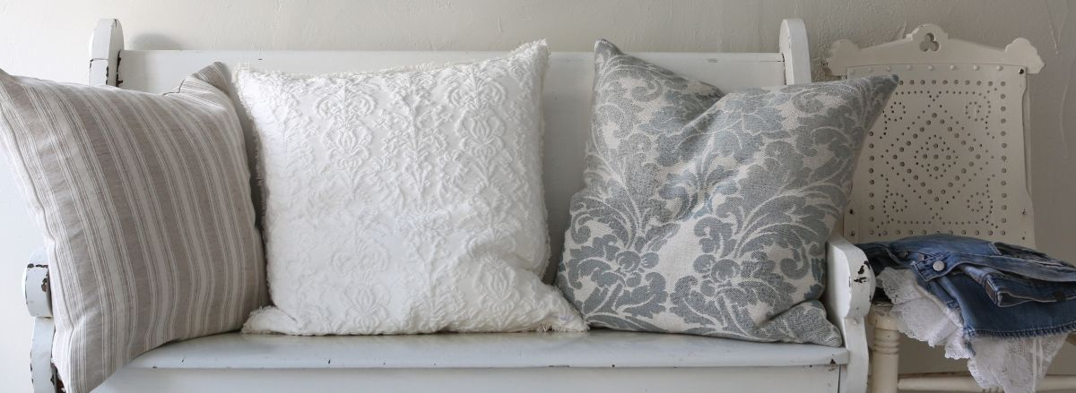 Mismatched Throw Pillows