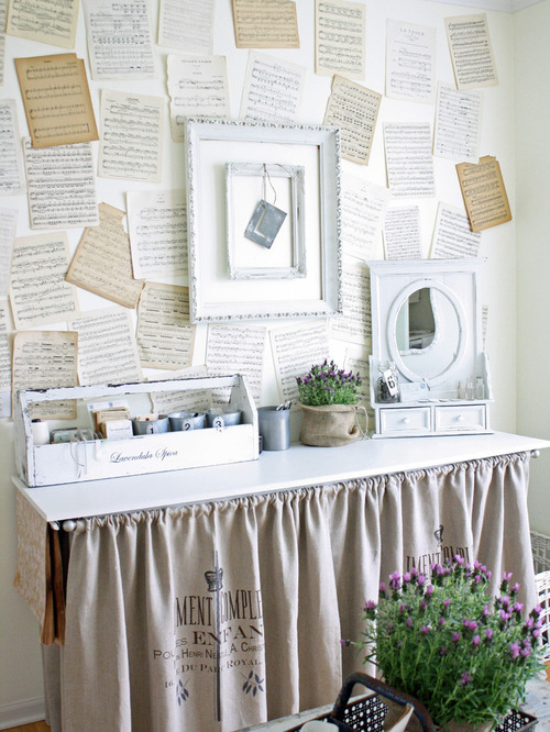 Textured wall with old papers