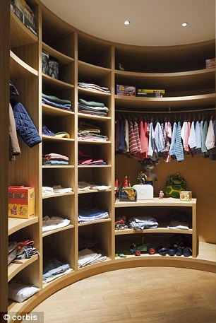 Built in: Made to measure storage will keep your clothes tidy