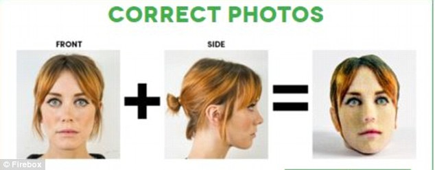 'Just your head please – one photo from the front and one from the side.' Pick a photograph that shows your entire head, including your hair, but keep your hair out of your face, eyes and lower forehead. Make sure you use the same expression for both the front and side view pictures and keep your lips together