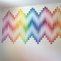 Rainbow chevron dorm