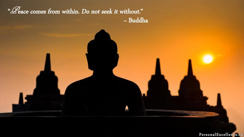 "[Inner Peace] Wallpaper: ""Peace comes from within. Do not seek it without."" ~ Buddha"