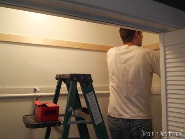 Adding more shelves to our builder-basic closet {Reality Daydream}