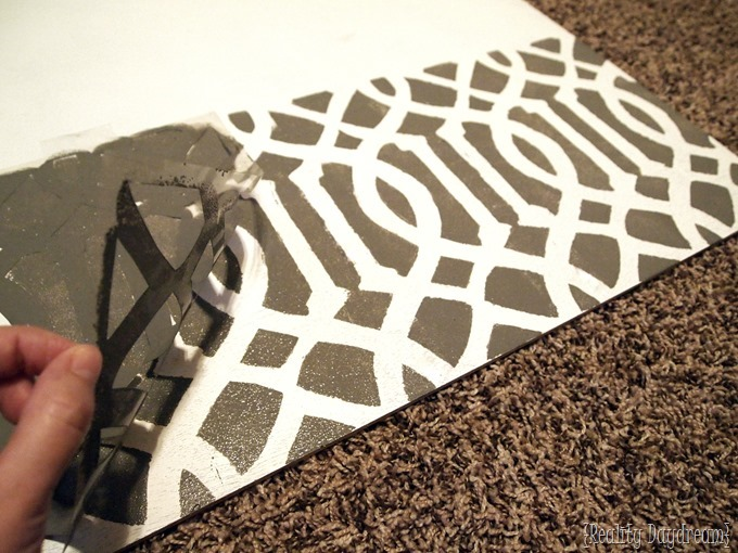 Make your own legit stencil in the comfort of your own home! {Reality Daydream}