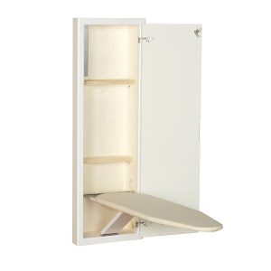 Household Essential 18100-1 StowAway In-Wall Ironing Board Cabinet with Built-In Ironing Board