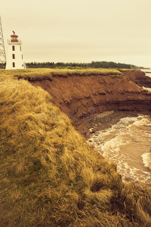 Cape Egmont Lighthouse in Prince Edward Island. In Canada stock photography