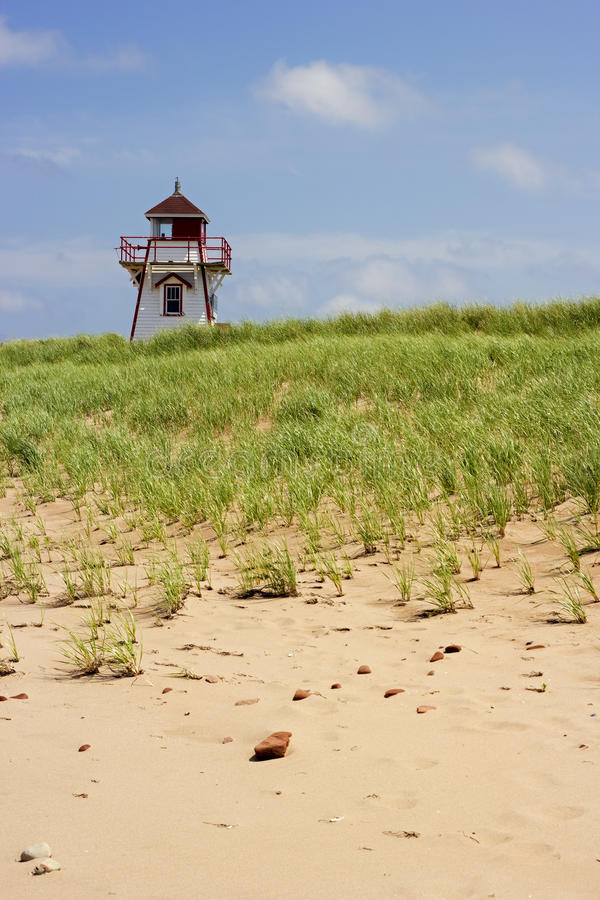 Covehead Harbour Lighthouse in Prince Edward Island. In Canada royalty free stock photos