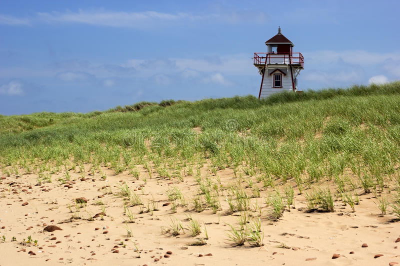 Covehead Harbour Lighthouse in Prince Edward Island. In Canada stock images