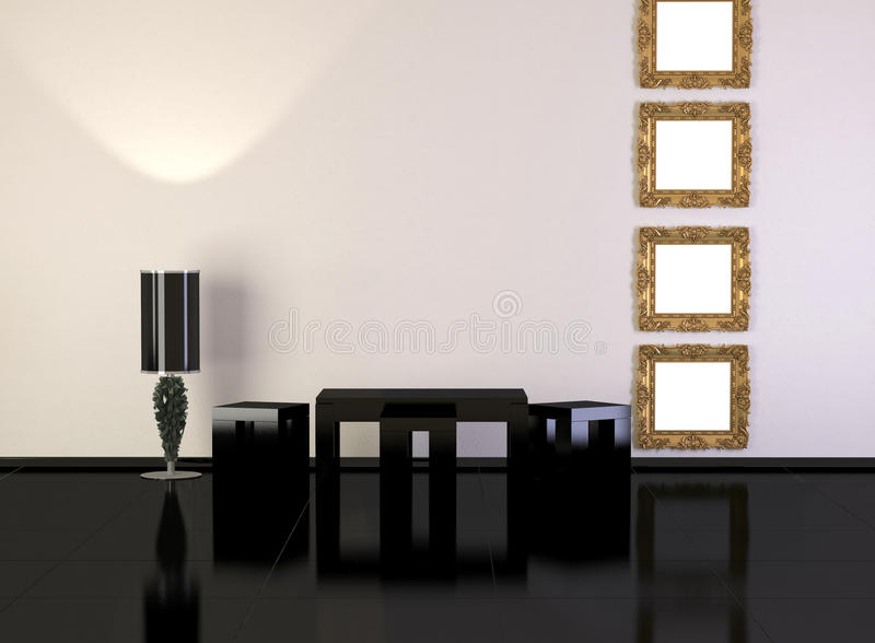 Design interior of elegance modern living room. Minimalism, similar compositions available in my portfolio royalty free illustration