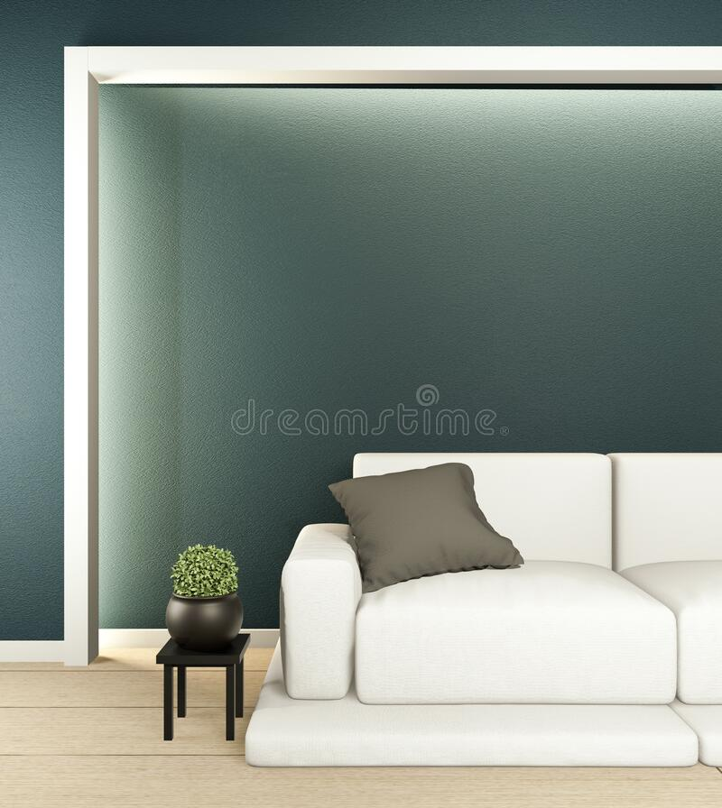 Room Interior scene mock up with sofa and decoration on room minimalism. 3D rendering. Interior scene mock up with sofa and decoration on room minimalism. 3D stock illustration