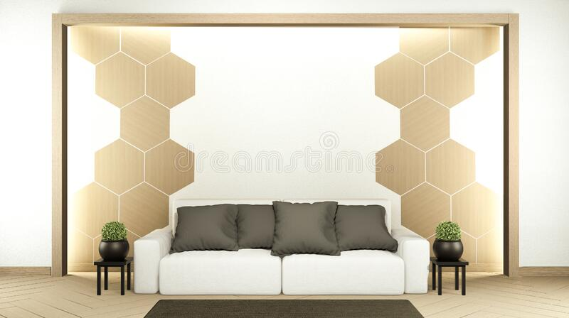 Room Interior scene mock up with sofa and decoration on room minimalism. 3D rendering. Interior scene mock up with sofa and decoration on room minimalism. 3D vector illustration