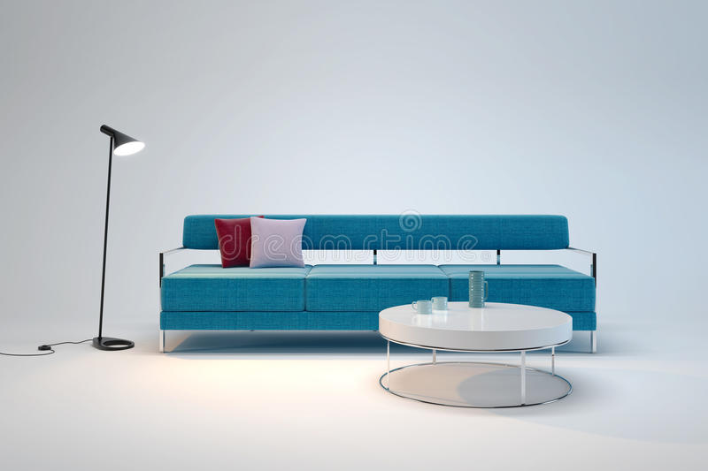 Living-room interior in minimalism style, 3d. Living-room interior in minimalism style 3d render vector illustration