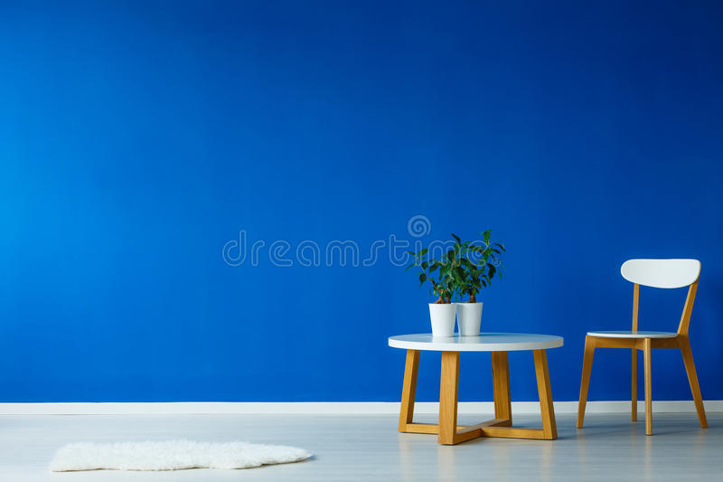 Spacious interior of living room stock images