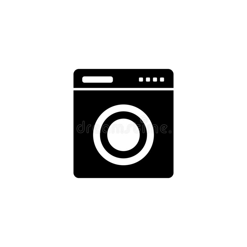 Washing machine, bathroom icon. Simple bathroom icons for ui and ux, website or mobile application. On white background stock illustration