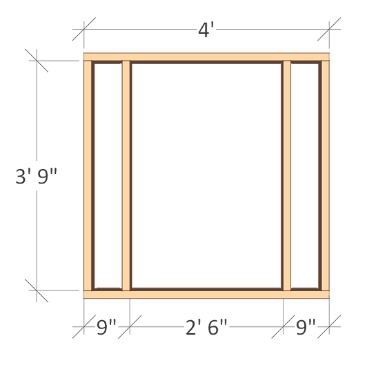 Free 4x8 chicken coop plans chicken coop front wall frame.