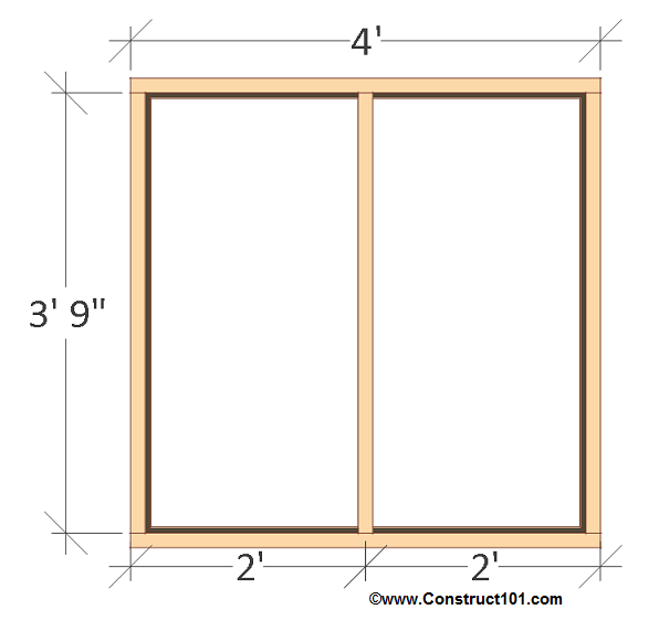 free 4x8 chicken coop plans back wall frame.