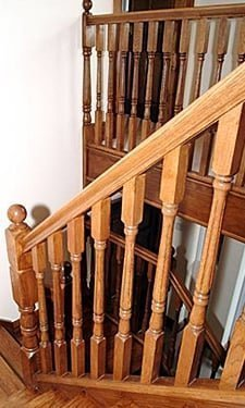 Georgian fluted balusters