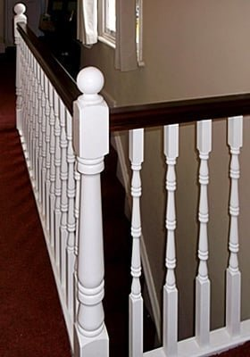 Traditional balusters by Pear Stairs