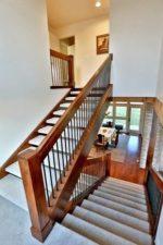 П образные лестницы на второй этаж – деревянные конструкции с забежными ступенями на 180 градусов, расчет оптимального подъема на второй этаж, размеры для частного дома