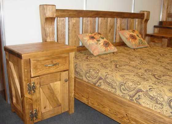 чертежи кровати из массива дерева с размерами кровать из дерева