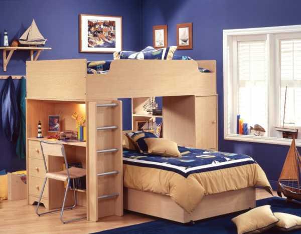 50 моделей двухъярусных кроватей для взрослых и детей и варианты оформления спален с их использованием 29