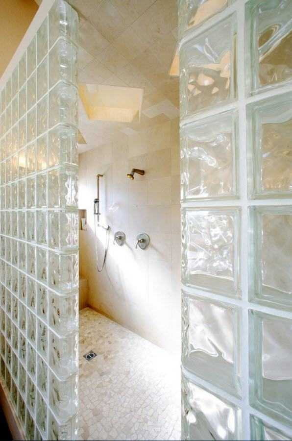 стеклоблоки для ванной комнаты стеклоблоки в ванной